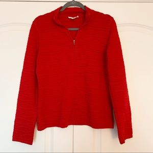 Cold water Creek Red Zippered Jacket